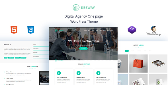 Keeway - Thème WordPress pour Word Digital 1 - Technologie WordPress