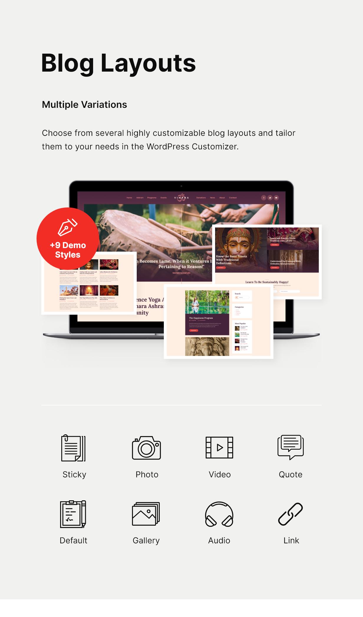Vihara | Thème WordPress du Temple bouddhiste de l'ashram - 4