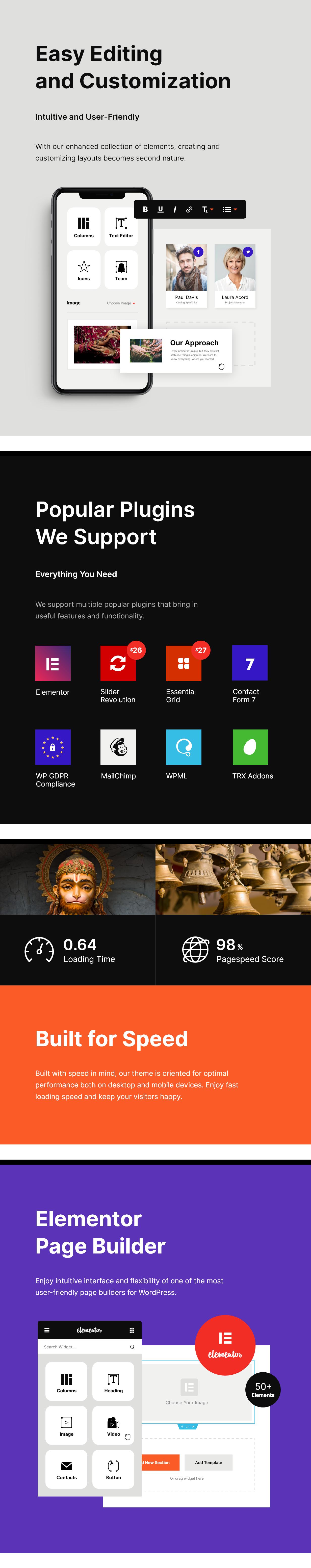 Vihara | Thème WordPress du Temple bouddhiste de l'ashram - 3