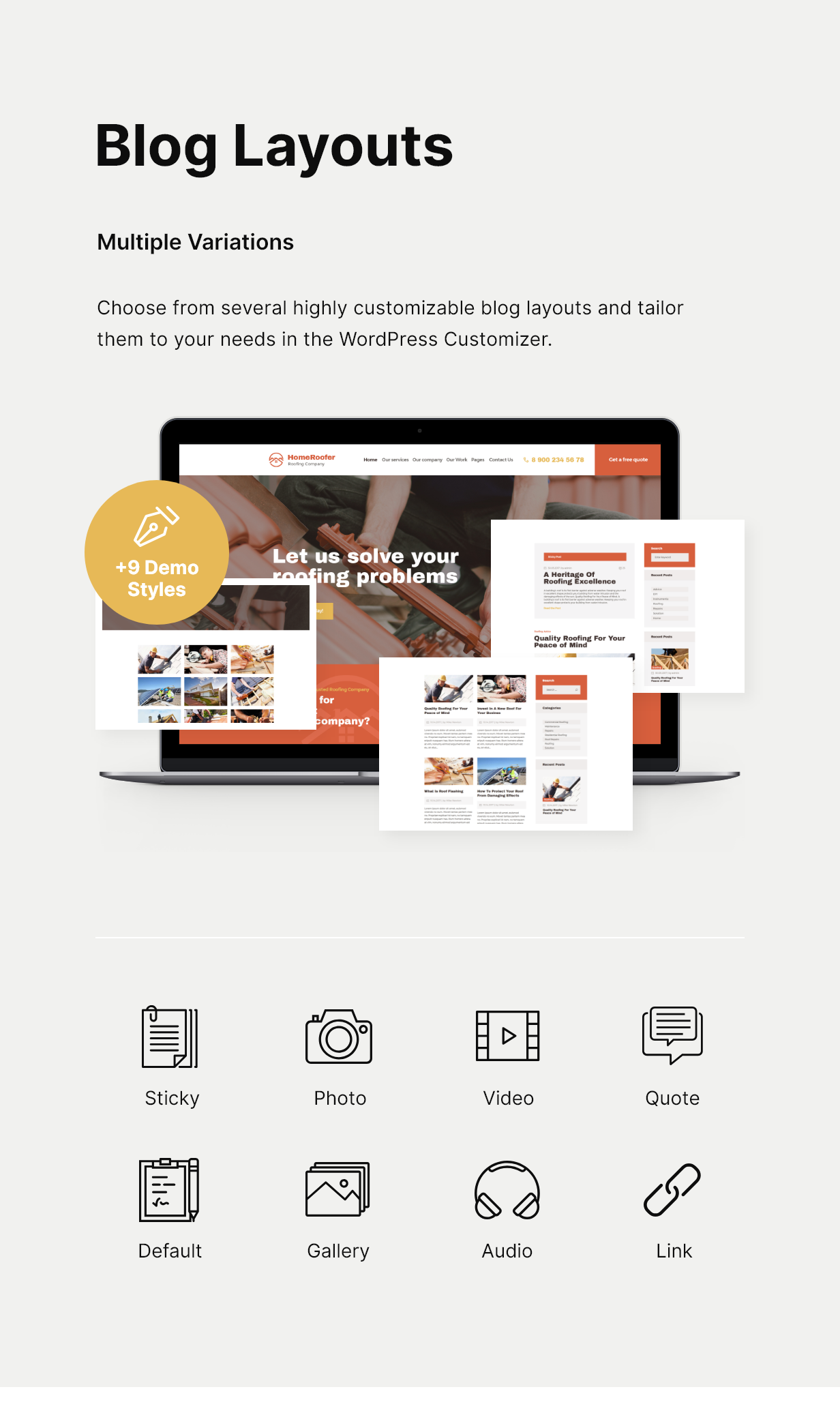 HomeRoofer | Thème WordPress - Services de couverture et services aux entreprises - 4