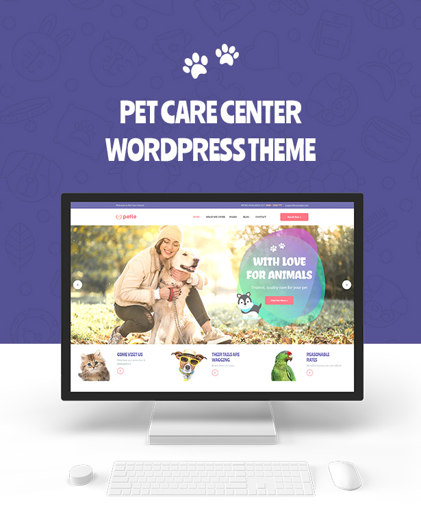 Petie - Centre de soins pour animaux et thème WordPress vétérinaire