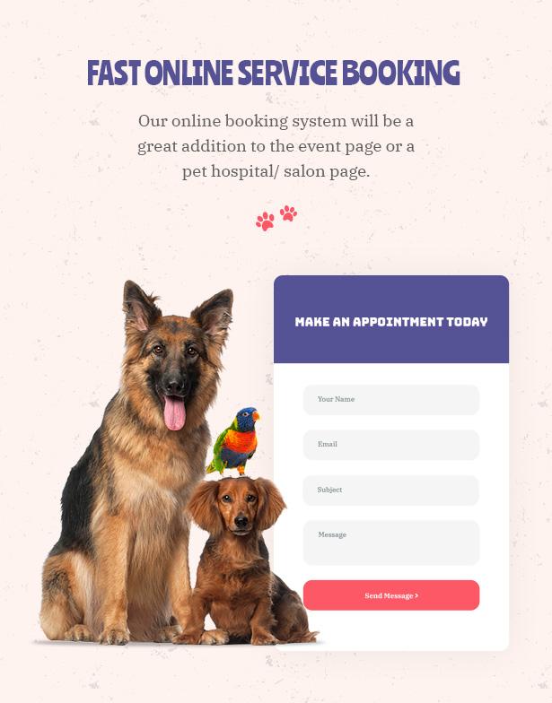 Petie - Centre de soins vétérinaires et thème vétérinaire WordPress Réservation en ligne