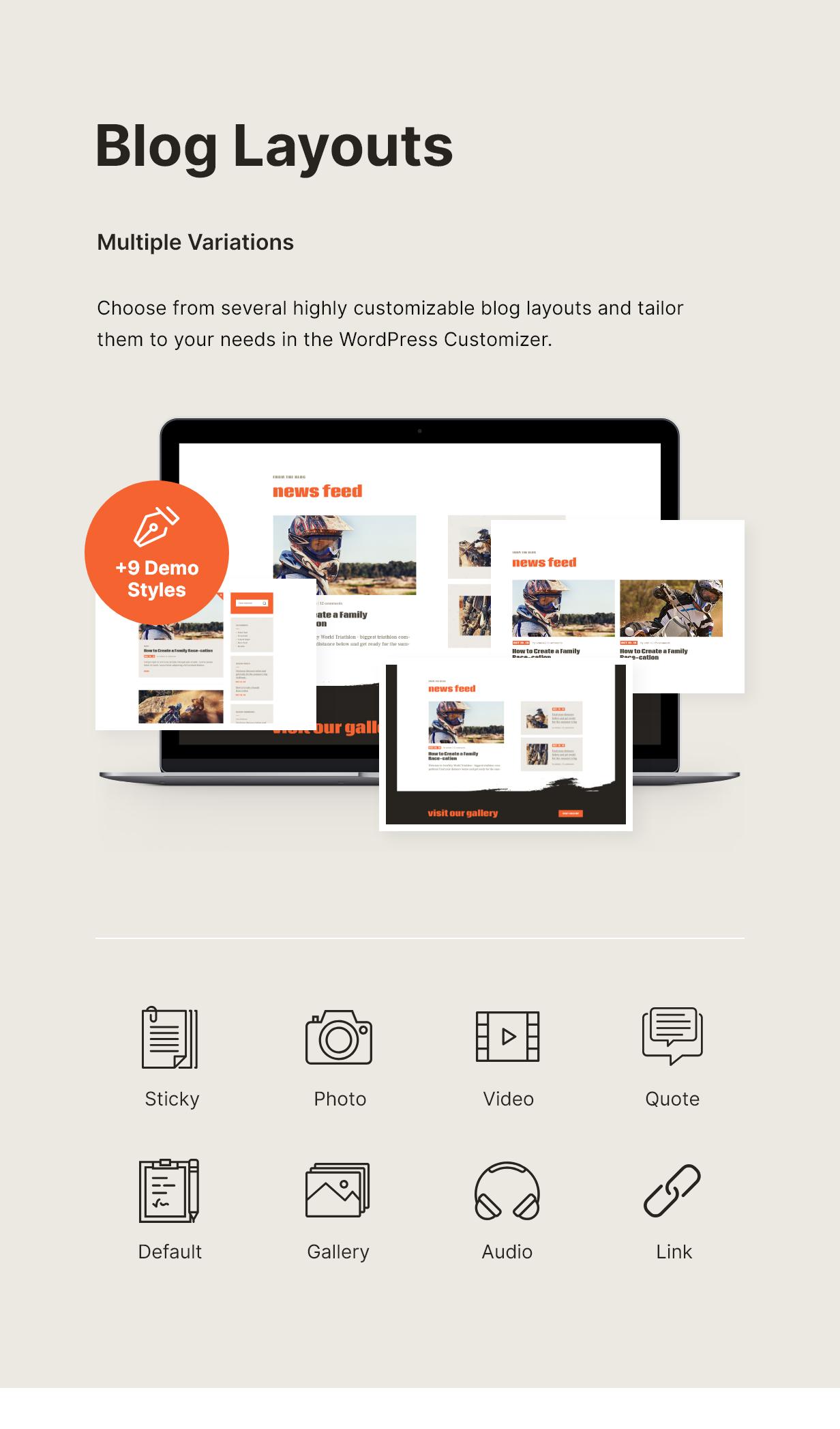 Kit | Thème WordPress pour la course cycliste et les événements sportifs - 4