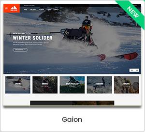 Gaion - Accessoires de sport Achetez le thème WordPress WooCommerce