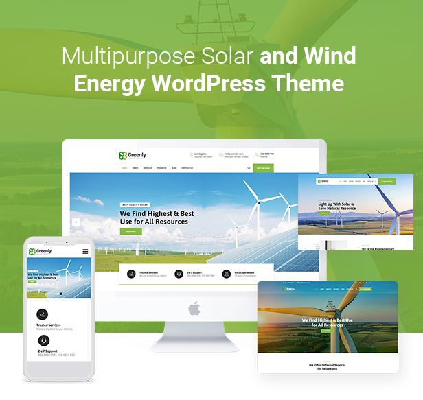 Thème WordPress vert