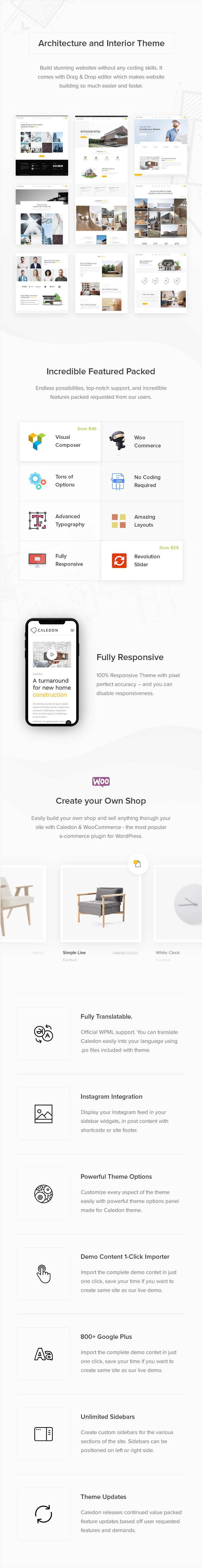 Caledon - Thème WordPress moderne pour les entreprises d'architecture et d'intérieur - 2
