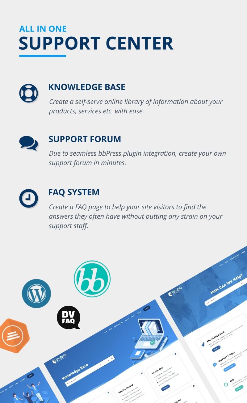 Card - Thème WordPress du forum de la base de connaissances et du support technique