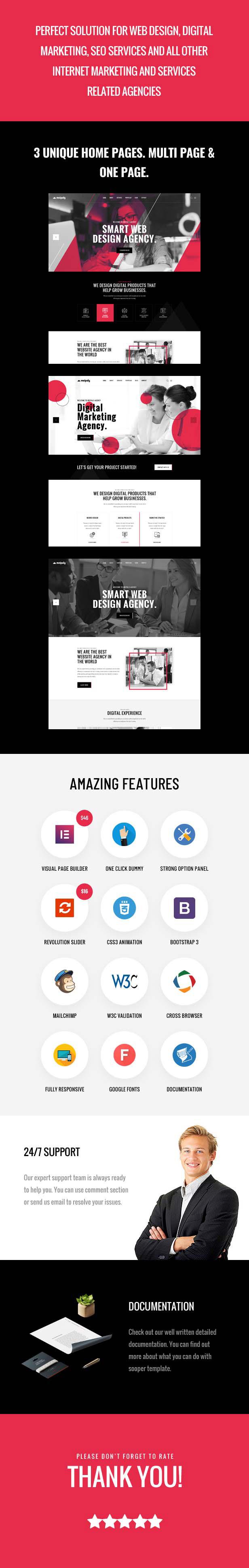 Meipaly - Thèmes WordPress pour l'agence de services numériques