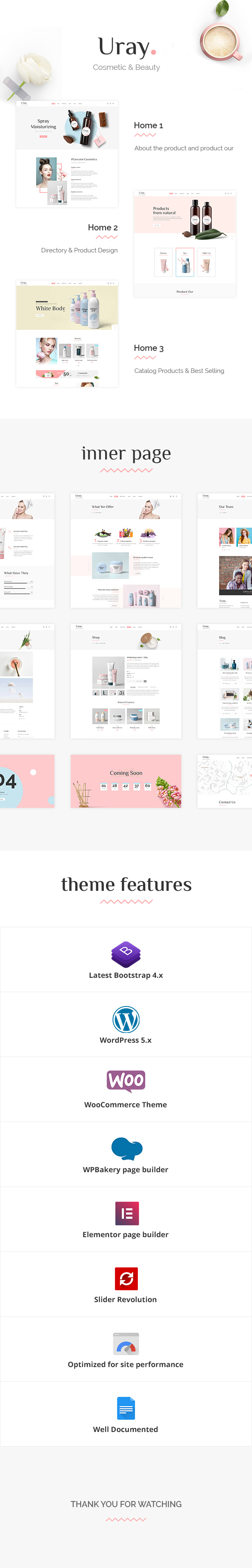 Uray - Cosmetic & Beauty Shop Thème WordPress WooCommerce - 1