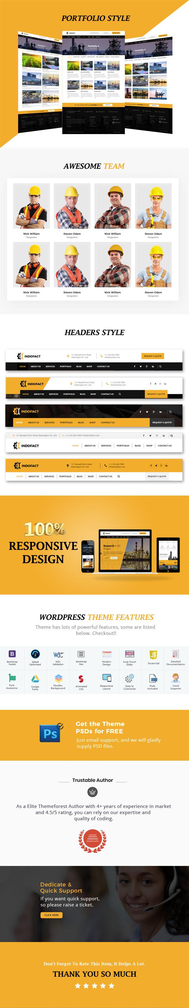 Indofact - Thème WordPress industriel et industriel - 3
