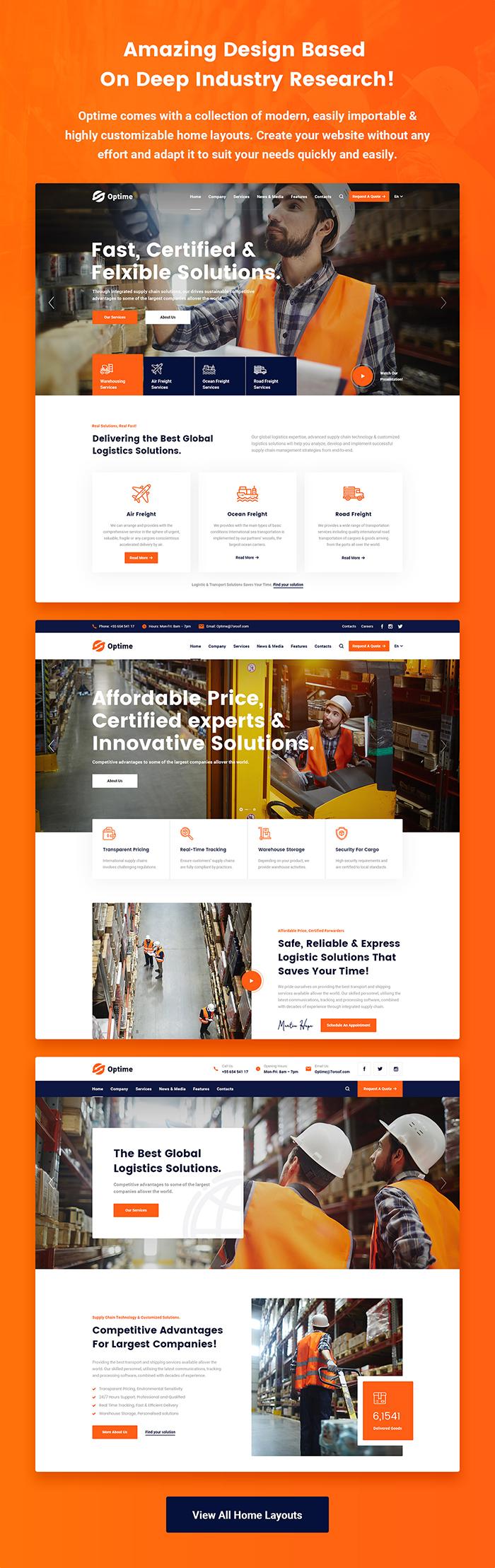 Optime - Thème WordPress pour la logistique et le transport - 5