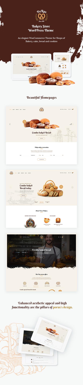 Porus - Thèmes WordPress pour la Boulangerie - 9