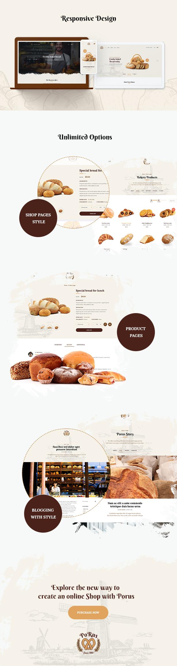Porus - Thèmes WordPress pour la Boulangerie - 10