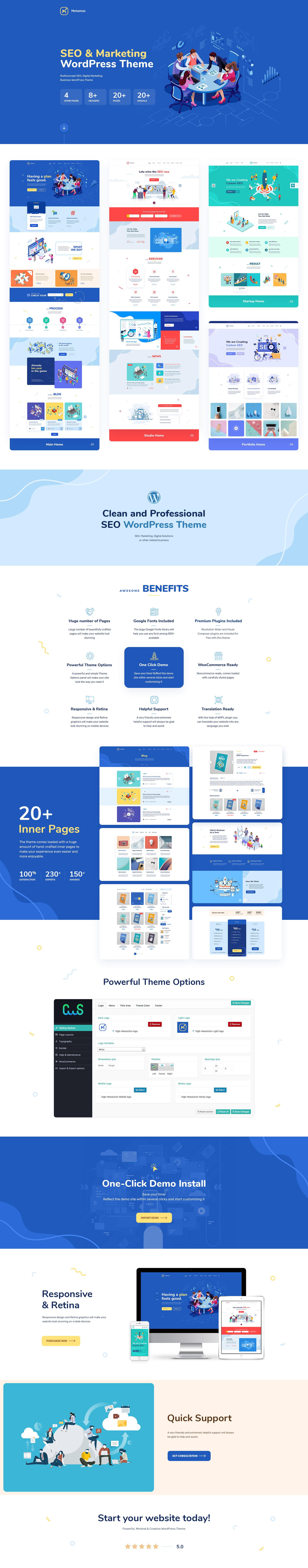 MetaMax - Thème WordPress pour le référencement et le marketing