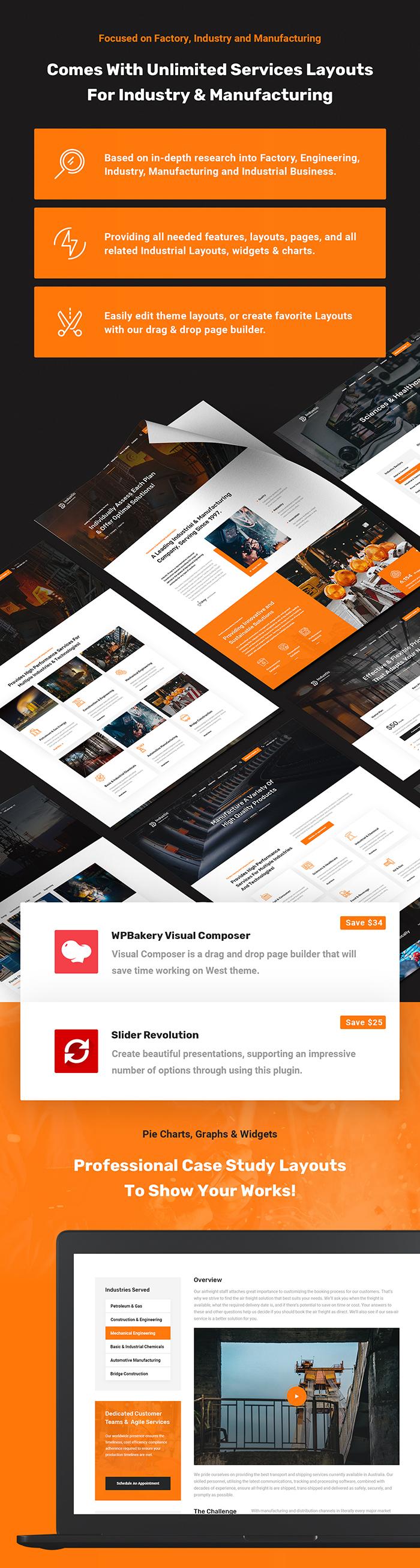 Industic - Thèmes WordPress pour l'usine et la production - 3