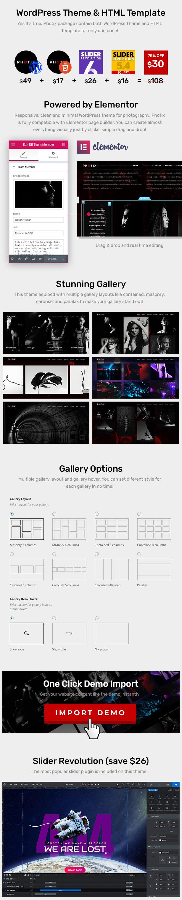 Photix - Thème WordPress pour la photographie