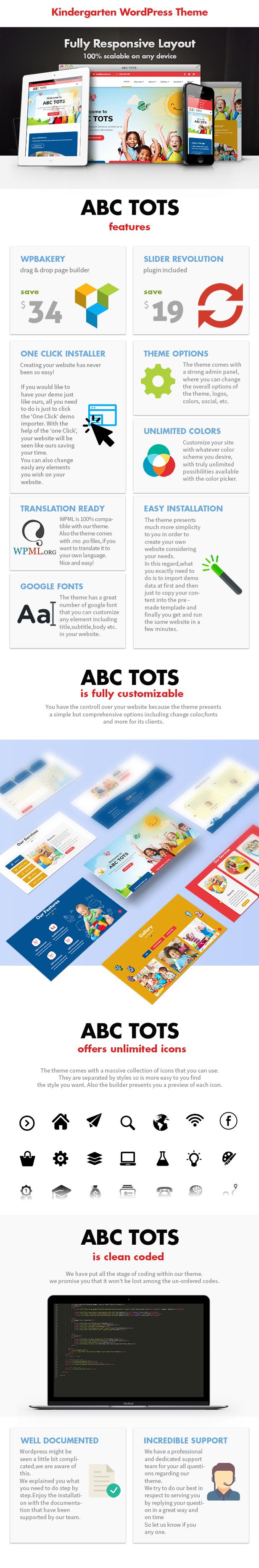 Abc Tots - Thème WordPress pour la maternelle - 3