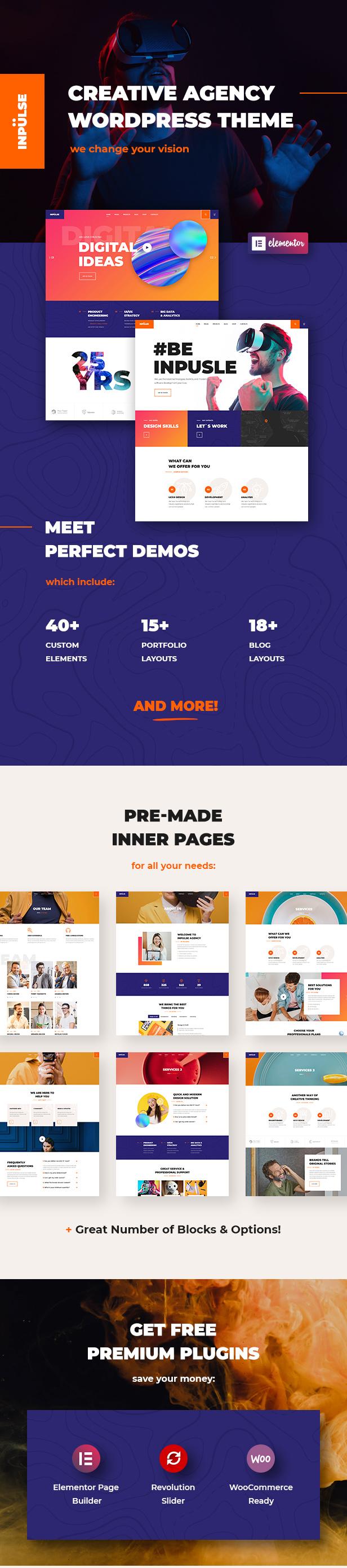 InPulse - Thèmes WordPress pour les agences de création - 1