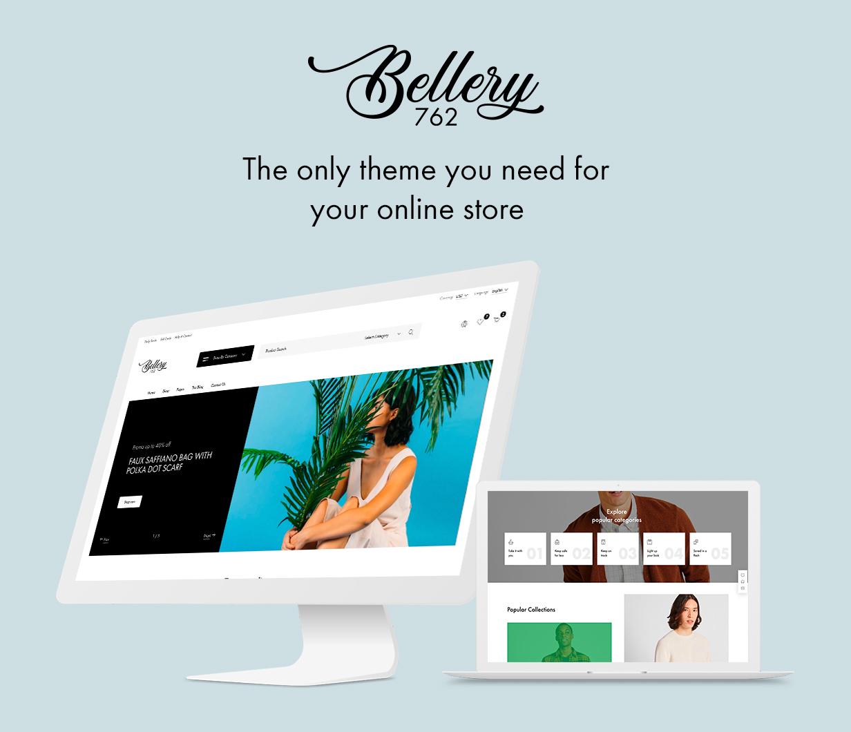 Bellery - Thème WooCommerce moderne et minimal - 1