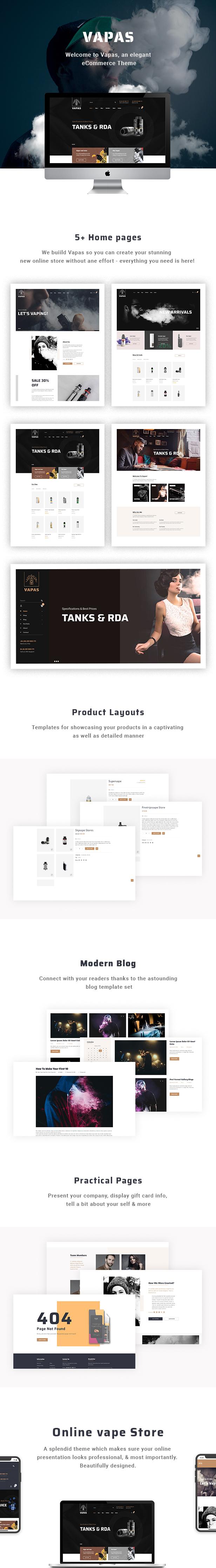 Vapas - Vape Store WooCommerce Thème WordPress - 1