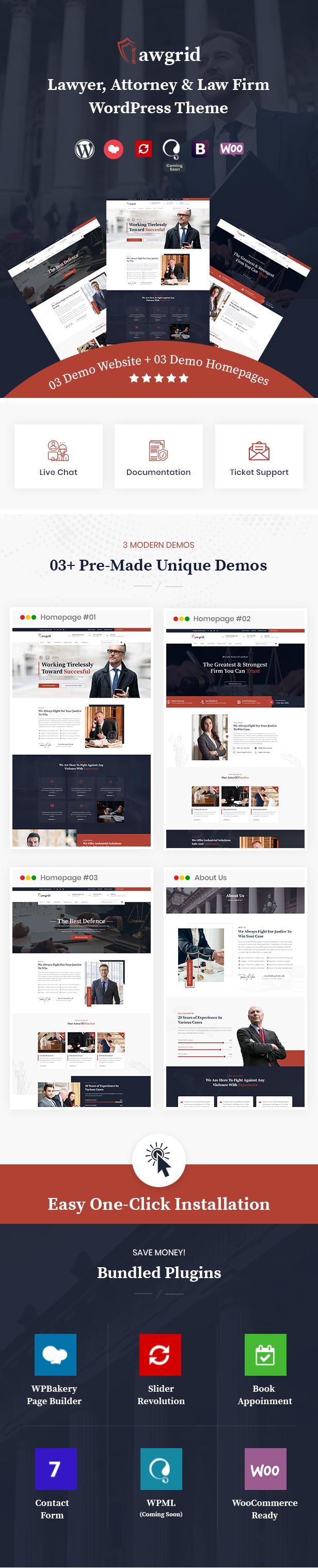 Lawgrid WordPress Thème