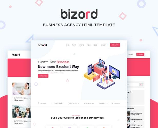 Bizord - Modèle HTML pour agences commerciales
