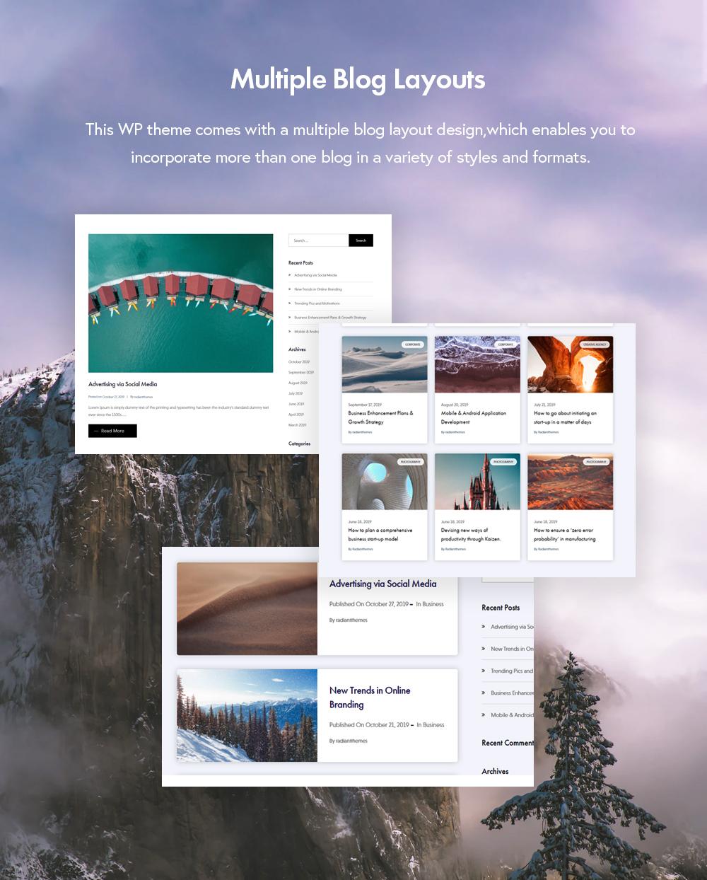 Prise de plusieurs styles de blog