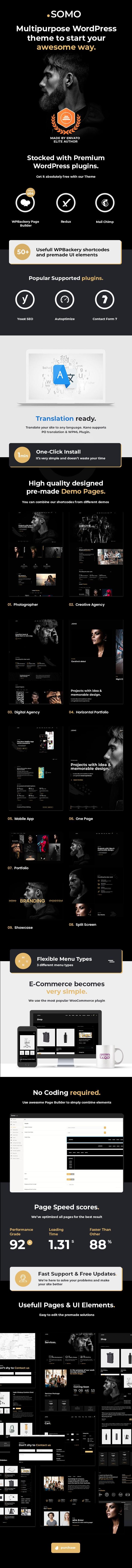 Somo - Thème WordPress polyvalent créatif - 4