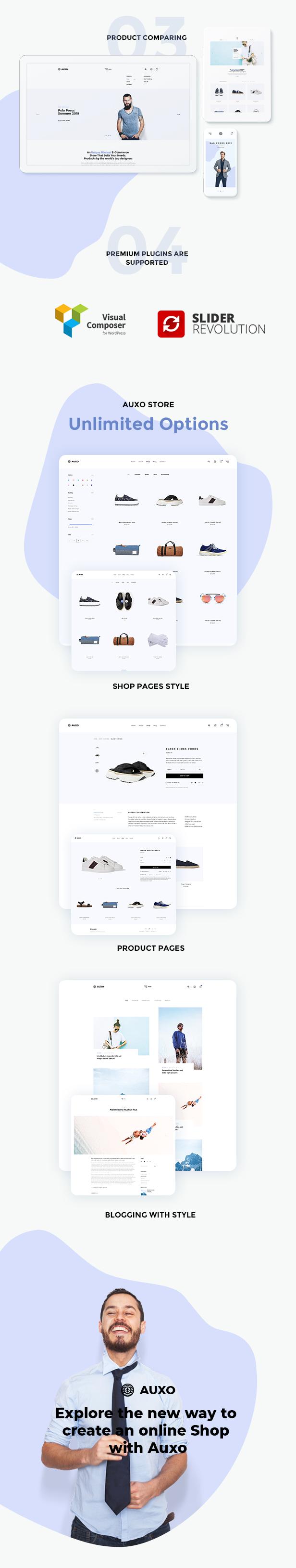 Auxo - Thème WordPress Minial WooCommerce Shopping - 10