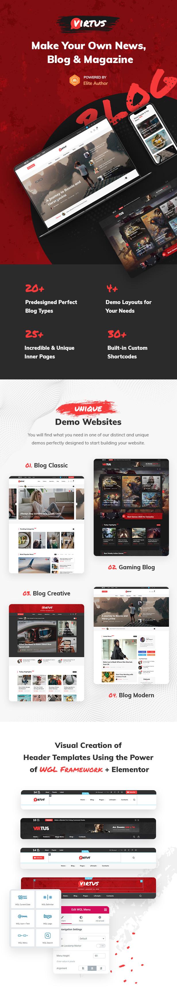 Virtus - Thèmes WordPress pour blogs et magazines modernes - 1
