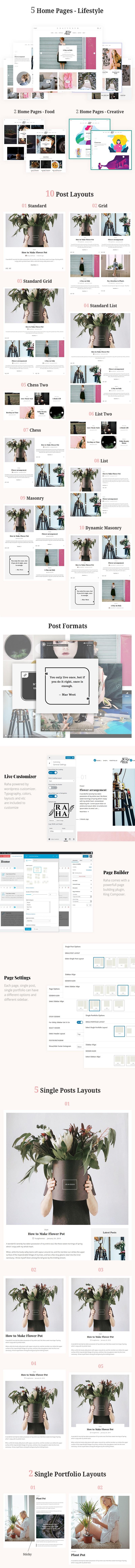 Raha - Thème WordPress créatif - 1