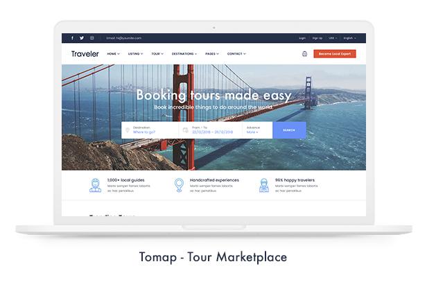 Thèmes WordPress pour les réservations de voyage - 10