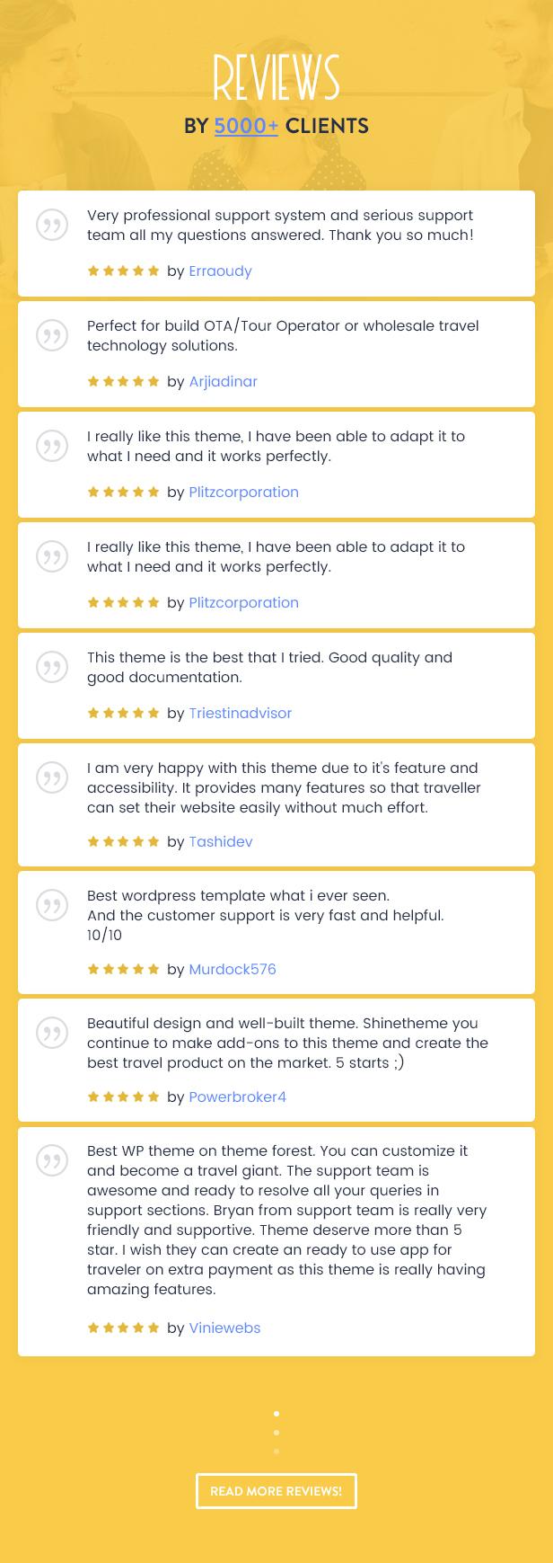 Thèmes WordPress pour les réservations de voyage - 30