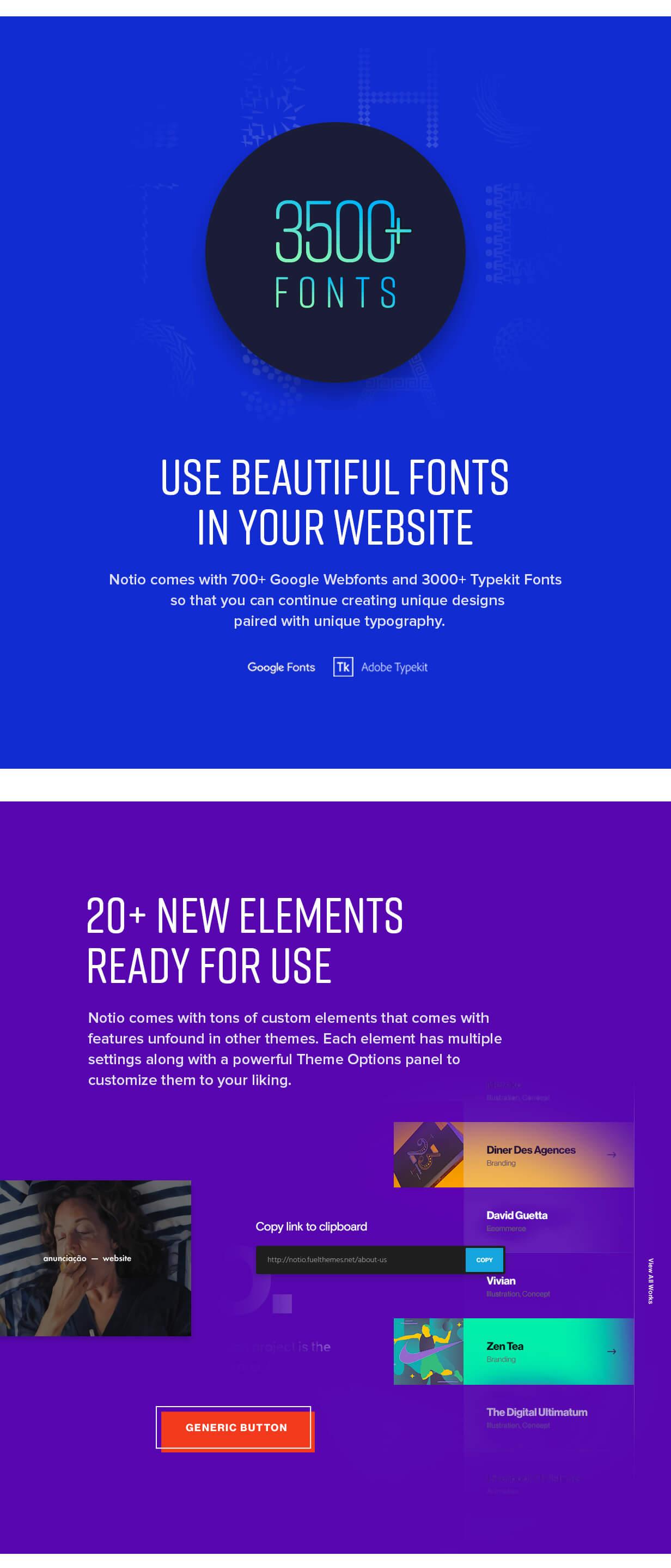 Un thème de portfolio WordPress visuellement époustouflant