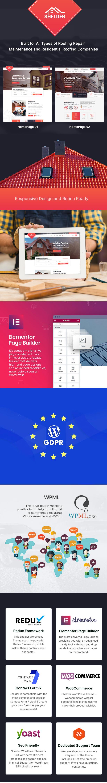 Shelder - Thème WordPress pour services de toiture - 1