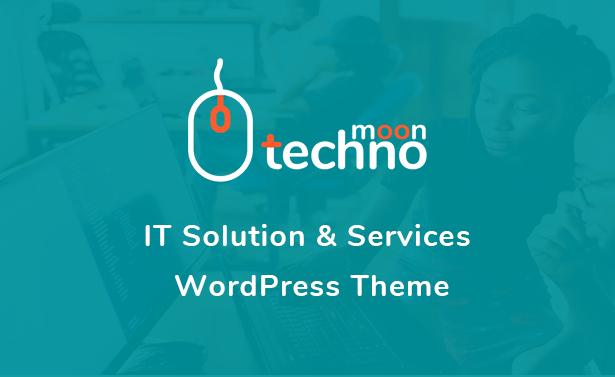 Techno Moon - Thème WordPress pour solutions et services informatiques - 1