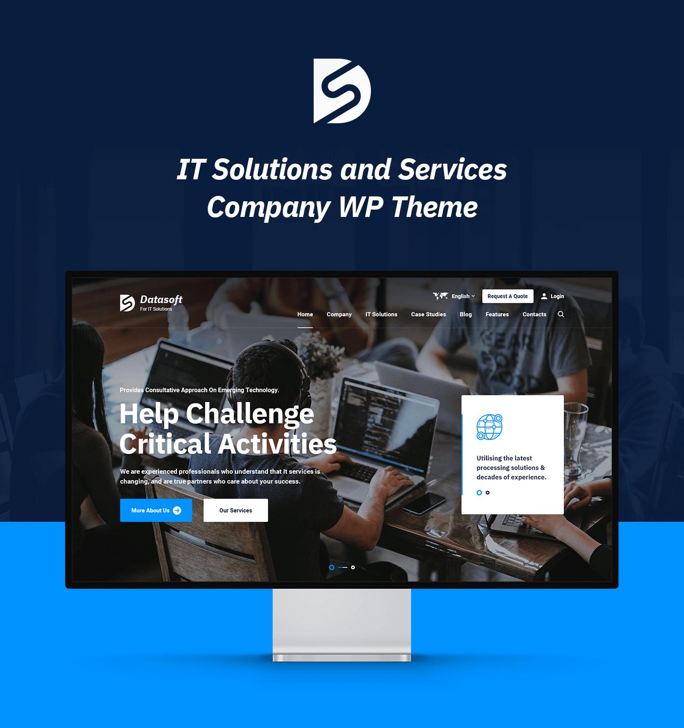 Datasoft - Thème WordPress pour solutions et services informatiques - 5