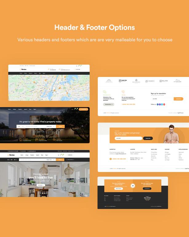 Rentex - Thème WordPress pour l'immobilier