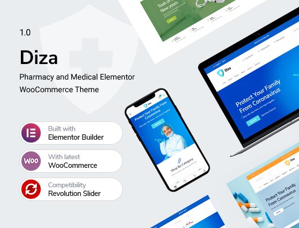 Diza - Thème WooCommerce Elementor Pharmacy Store - 5