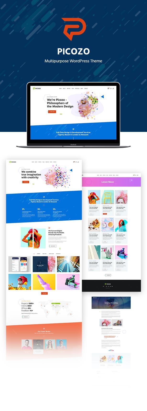 Picozo - Thème WordPress pour agence créative et portefeuille