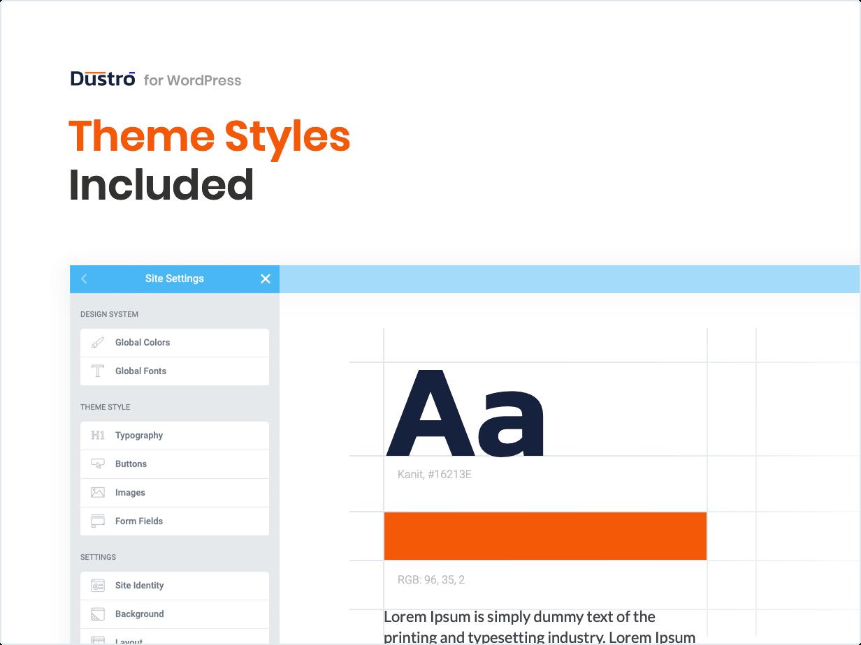 Styles de thème inclus