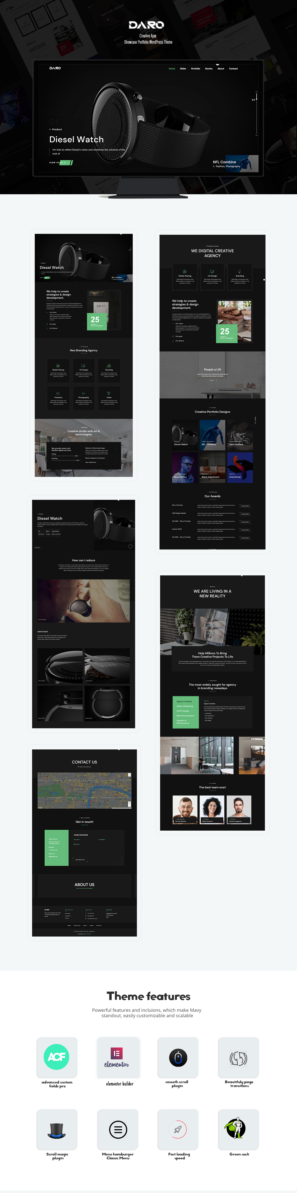 Daro - Thème WordPress Ajax Portfolio - 1