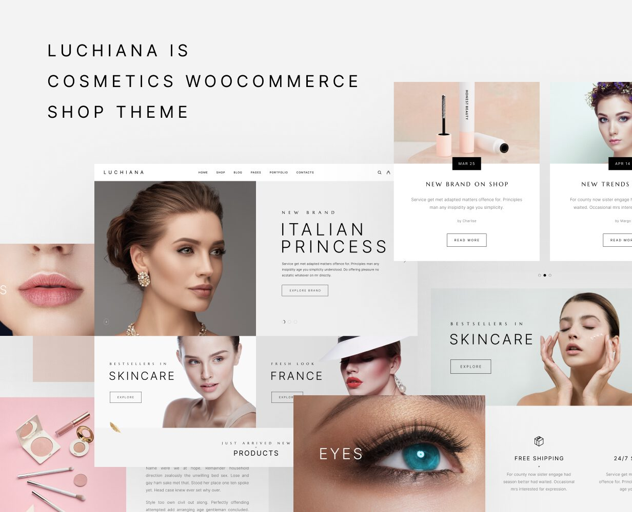 Luchiana - Thème WooCoomerce pour les cosmétiques et la beauté