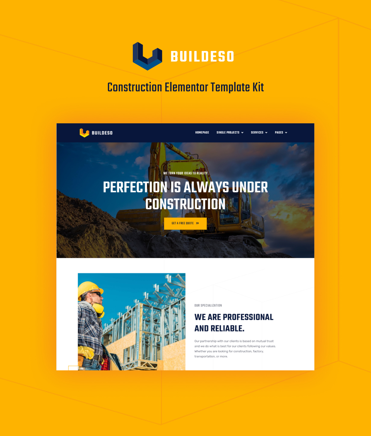 Buildeso | Kit de gabarit de construction Elementor - 1