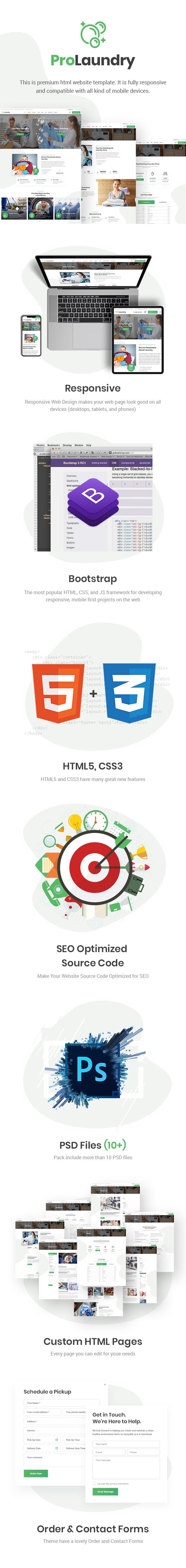 ProLaundry - Modèle HTML de blanchisserie - 2