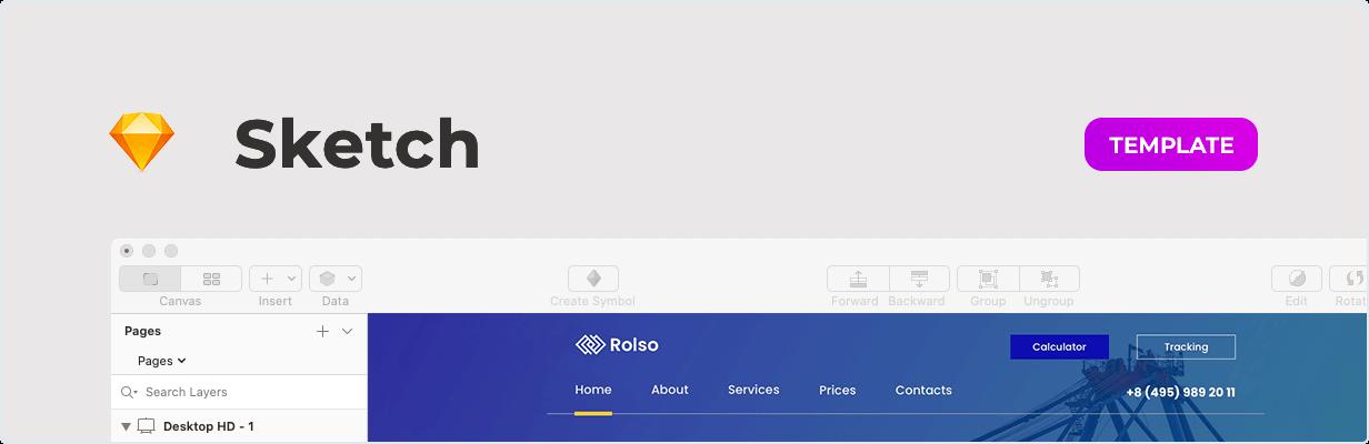 Rolso - Modèle d'entreprise logistique pour le croquis