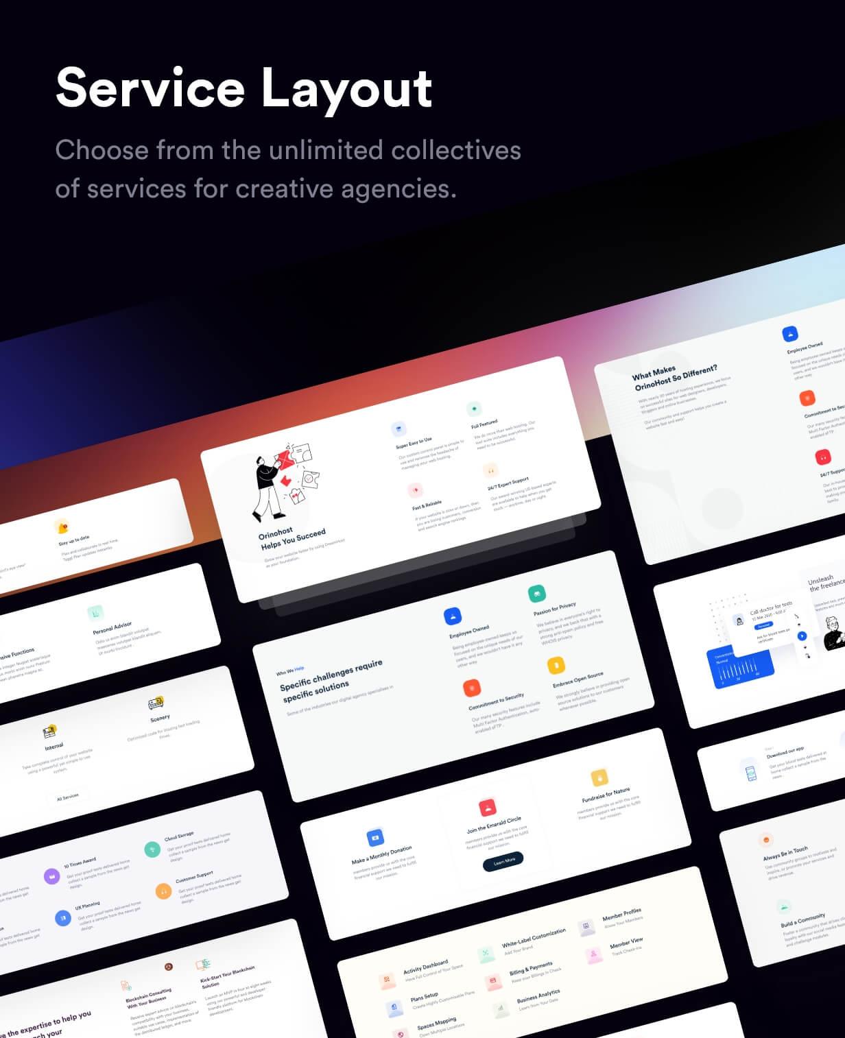 Rakon - Modèle HTML5 de page de destination polyvalente créative (RTL pris en charge) - 5