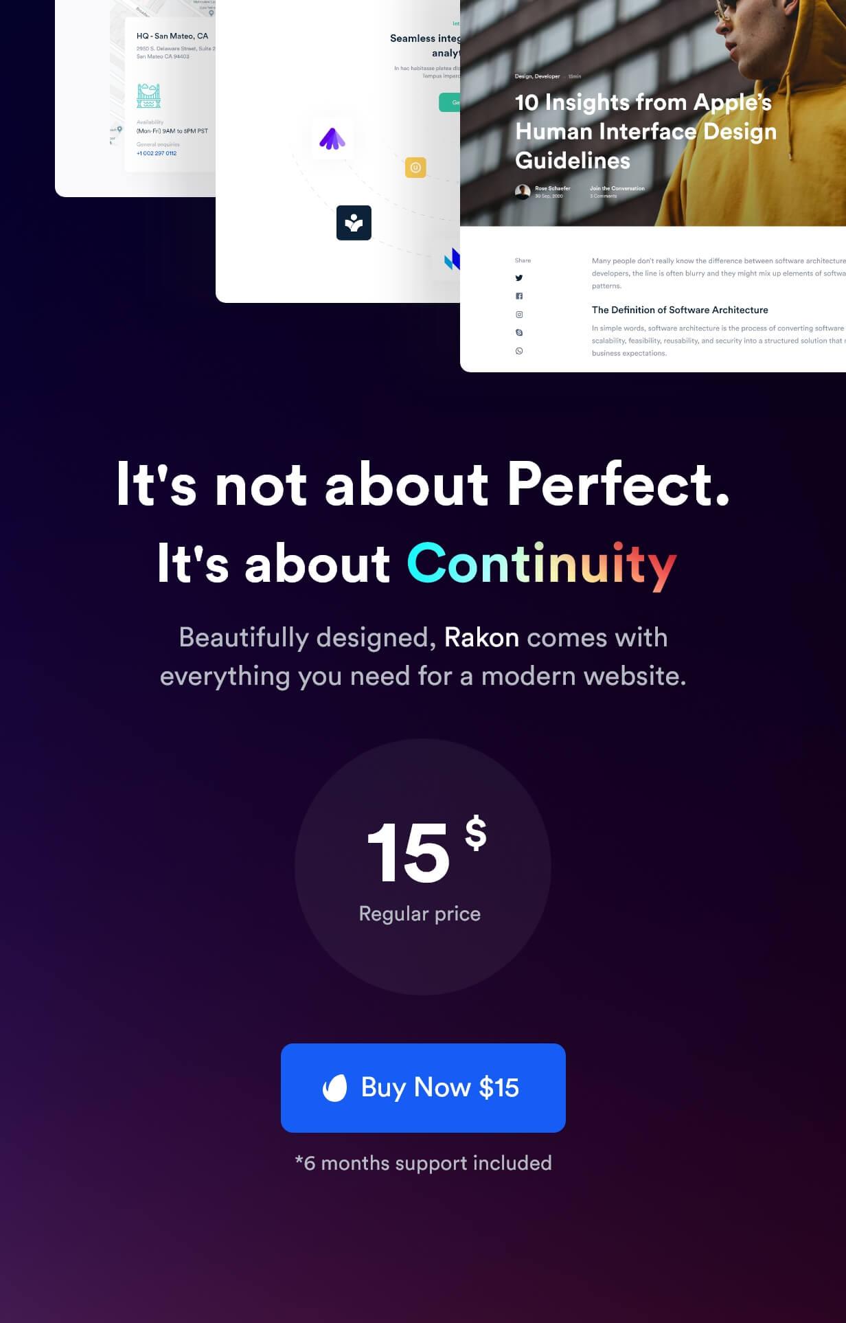 Rakon - Modèle HTML5 de page de destination polyvalente créative (RTL pris en charge) - 13