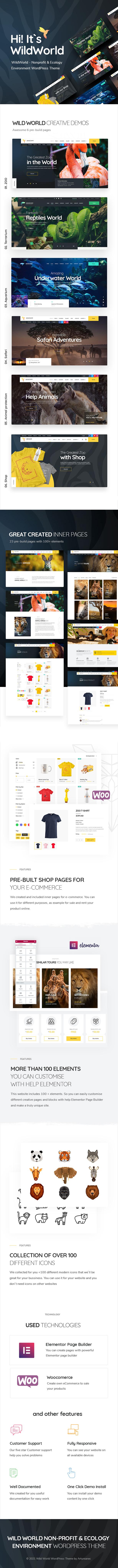 WildWorld | Thème WordPress pour les organismes à but non lucratif et l'écologie - 2