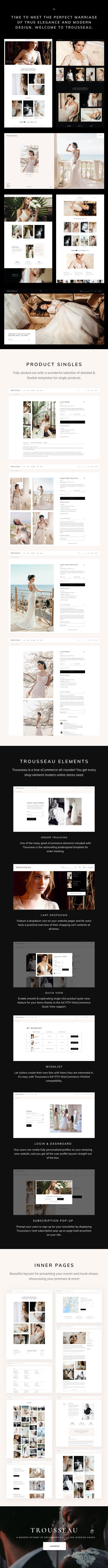 Trousseau - Thème WordPress Bridal Shop - 2